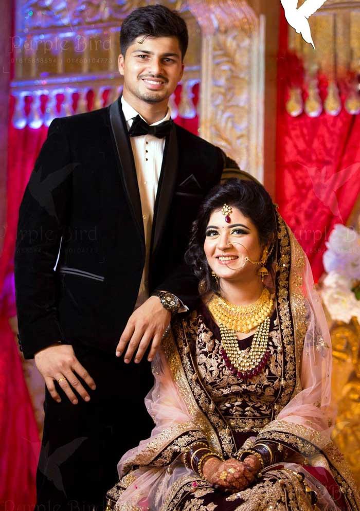 Nurul Hasan Sohan Bangladeshi Cricketer with his wife